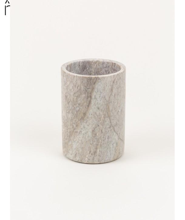 Petit vase cylindrique étroit en pierre sans couvercle