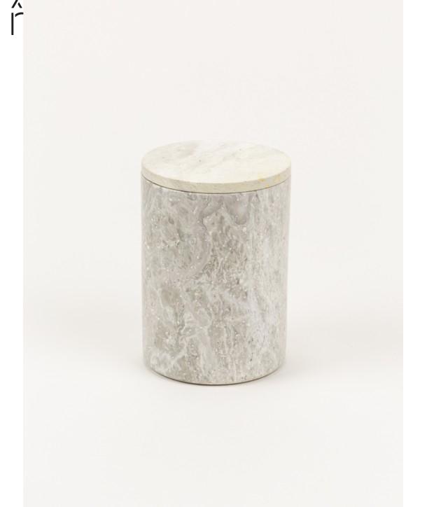 Moyenne boîte cylindrique étroite couvercle pierre naturelle
