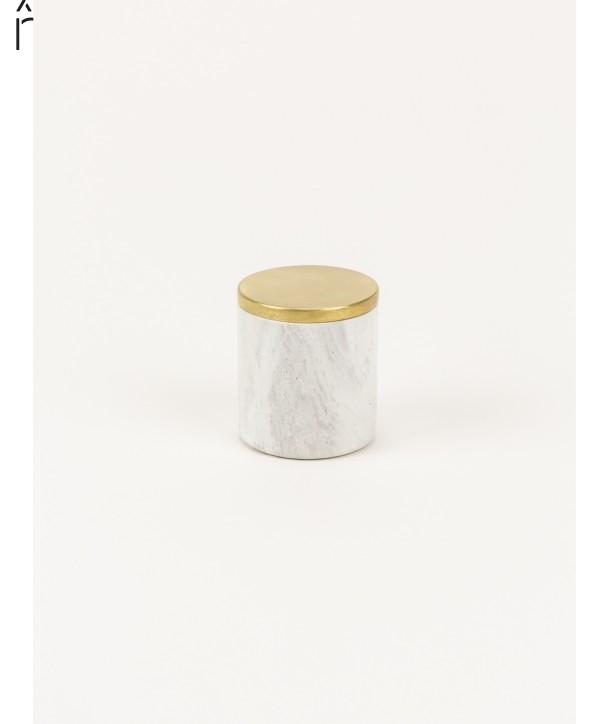 Petite boîte cylindrique étroite couvercle serti laiton cuivré