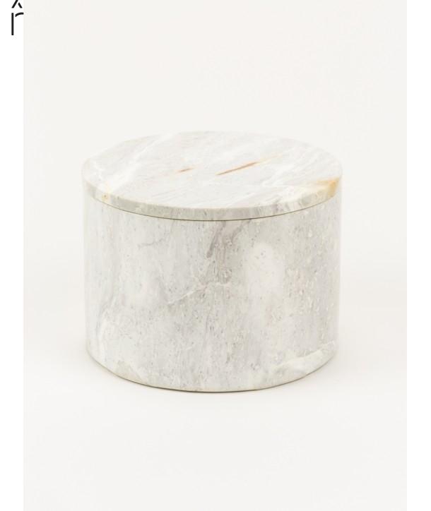 Grande boîte ronde large couvercle pierre naturelle