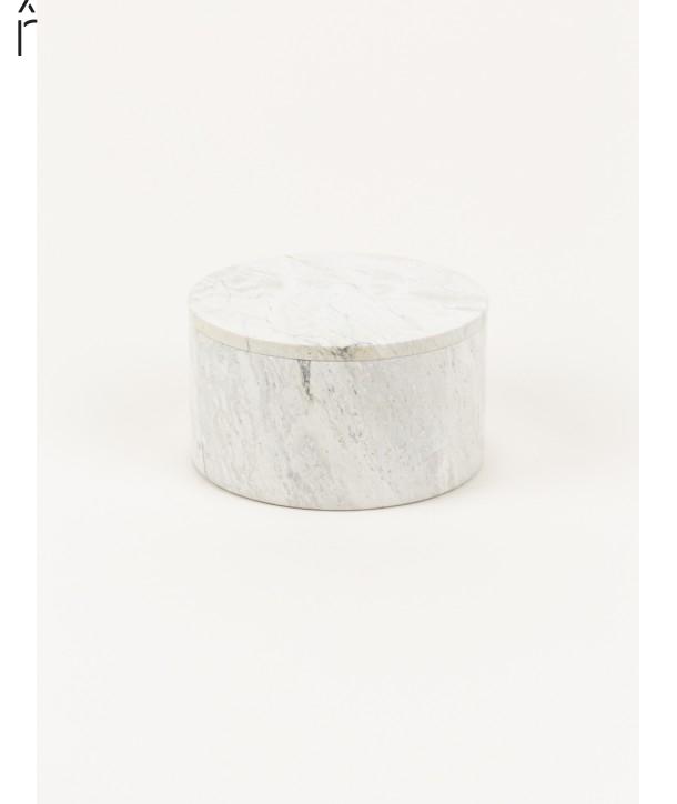 Moyenne boîte ronde large couvercle pierre naturelle