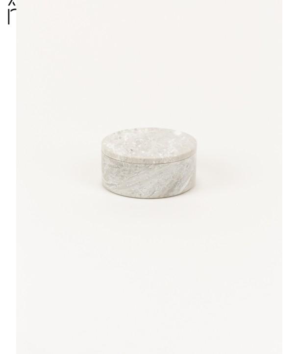 Petite boîte ronde large couvercle pierre naturelle