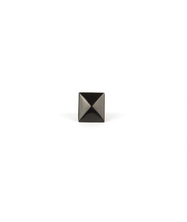 Bague pyramide en corne noire unie
