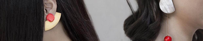 Kim Khi - Bijoux laiton laque rouge
